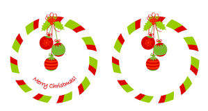 Christmas wreath. Beautiful Christmas wreath with christmas ornaments isolated on white background Stock Images
