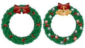 Christmas wreath. Christmas holly wreath isolated on white background Stock Images