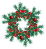 Christmas wreath. Royalty Free Stock Photos