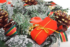 Christmas wreath Stock Images