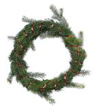 Christmas wreath. An isolated holiday Christmas wreath over white Royalty Free Stock Images