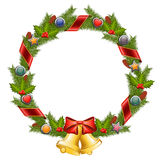 Christmas wreath. Isolated on white background. Vector illustration Royalty Free Stock Photography