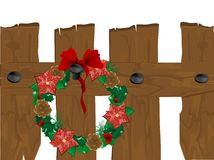 Christmas wreath stock illustration