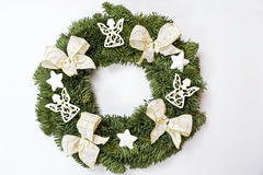 Christmas wreath. Isolated over white background stock images