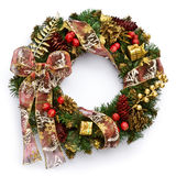 Christmas wreath. On white background Royalty Free Stock Photo