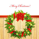 Christmas wreath Stock Photo
