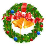 Christmas wreath Royalty Free Stock Photos