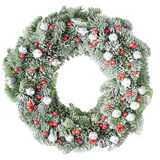 Christmas wreath. Christmas pine wreath isolated on white background royalty free stock images