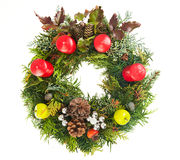 Christmas wreath. Isolated on a white background royalty free stock images