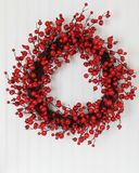 Christmas wreath. Of holly berries royalty free stock image