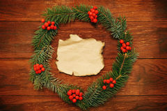 Christmas wreath Royalty Free Stock Image