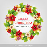 Christmas wreath. Royalty Free Stock Photos