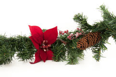 Christmas Wreath. Beatiful closeup of a Christmas Wreath with pinecones and berries Stock Photo