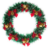 Christmas wreath. Green Christmas wreath isolated on white Royalty Free Stock Photo
