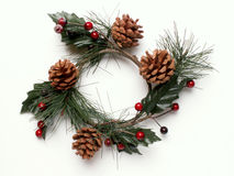 Christmas wreath. A Christmas wreath royalty free stock photography
