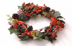 Christmas Wreath. On white background Royalty Free Stock Photos
