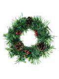 Christmas Wreath. Isolated on a white background royalty free stock photos
