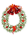 Christmas_wreath Stock Photos