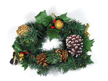 Christmas Wreath. In isolated background Royalty Free Stock Photography