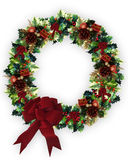 Christmas Wreath. Image and illustration composition of 3D Decorated Christmas Wreath Stock Images