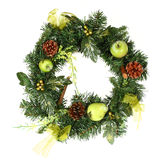 Christmas Wreath. On white background stock photography