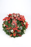 Christmas Wreath. A wreath decorated with dried and silk flowers for Christmas Stock Image