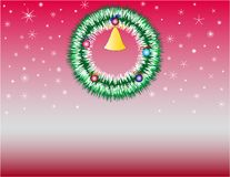 Christmas_wreath Fotografie Stock