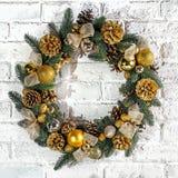 The Christmas wreath Stock Photos