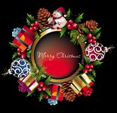 Christmas wreath background Royalty Free Stock Photo