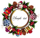 Christmas wreath background Stock Image