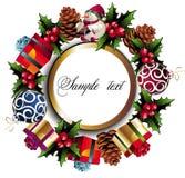 Christmas wreath background vector illustration