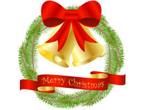 Christmas Wreath Background Royalty Free Stock Photography