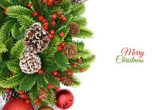 Christmas wreath background Royalty Free Stock Photos