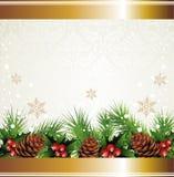 Christmas wreath background Stock Photo