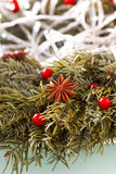 Christmas wreath background. Royalty Free Stock Images