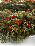 Christmas wreath background. Royalty Free Stock Image