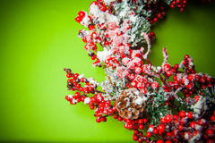 Christmas wreath. Background with lovely colorful christmas wreath stock photo