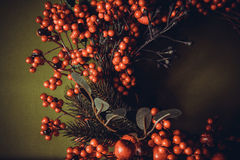 Christmas wreath. Background with lovely colorful christmas wreath royalty free stock photography
