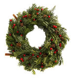Christmas wreath background. Stock Image