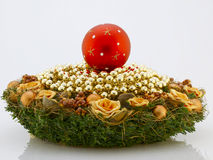 Christmas wreath and balls Royalty Free Stock Image