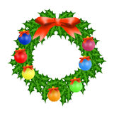 Christmas wreath with balls Stock Photography
