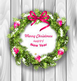Christmas Wreath with Balls, New Year and Stock Photography