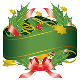 Christmas Wreath Banner Stock Photos