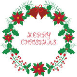 Christmas wreath with bell. Stock Image