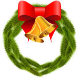 Christmas wreath with bells Stock Photography