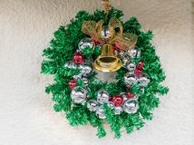 Christmas wreath with bells Stock Photos