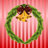 Christmas wreath with bells Stock Image