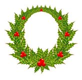 Christmas wreath with a berry Royalty Free Stock Photo