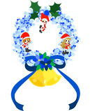 Christmas Wreath -Blue- Stock Images
