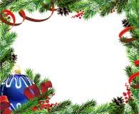 Christmas wreath with blue ball Stock Photo
